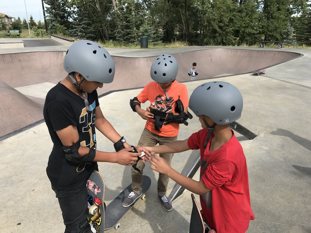 Skateboard lessons continued every Saturday of the season with a focus on mentorship, empowerment, and building positive community at the local skatepark.