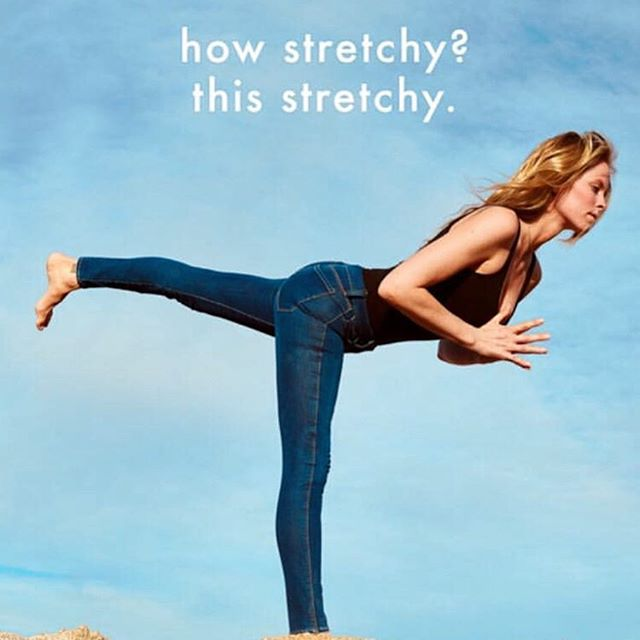 Our special 11 ounce four-way stretch fabric offers softness and stretch with an exceptional recovery that leaves you tucked in , but comfortable for all day wear ... or even a little yoga session.  #denim #madeinlosangeles #geneticjean