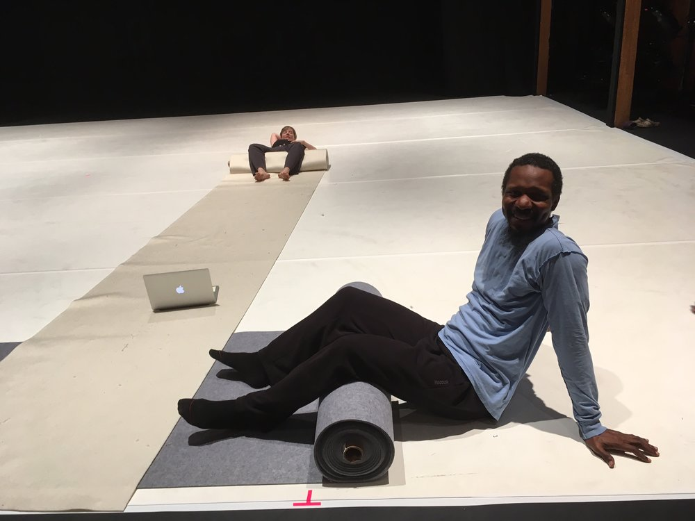 Trebien at the Jacob's Pillow rehearsal residency. Photo: Lila Hurwitz