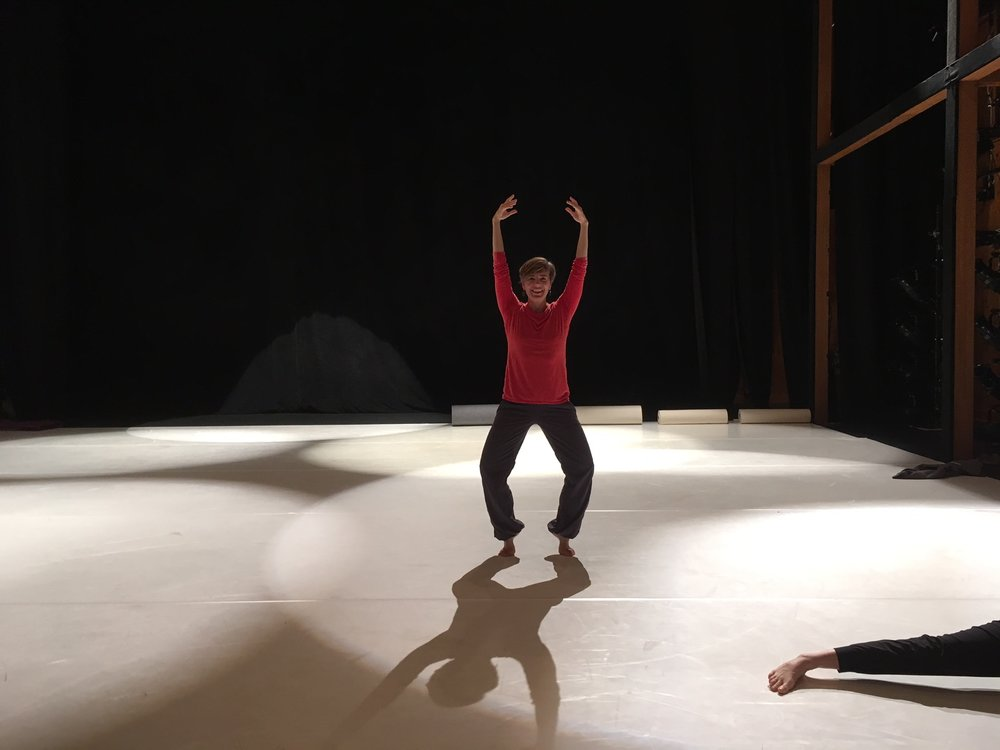 Sarah at the Jacob's Pillow production residency. Photo: Lila Hurwitz
