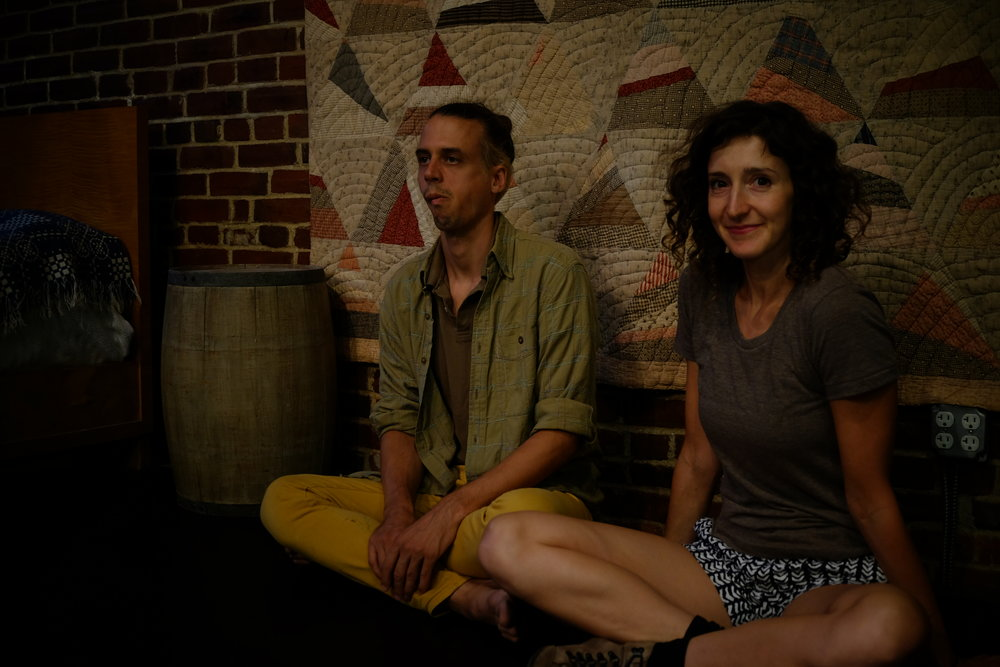 Gabi and Greg at the Philadelphia showing in September 2017. Photo: Hanbit Kwon