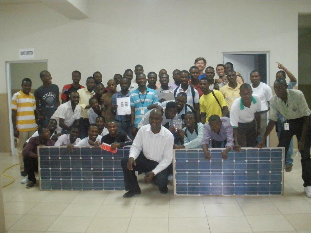 solar class in haiti