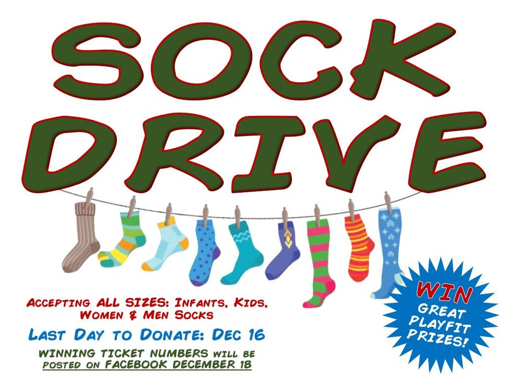 856956e4946 SOCK DRIVE! Donate until Dec 16 18 for your chance to win ...