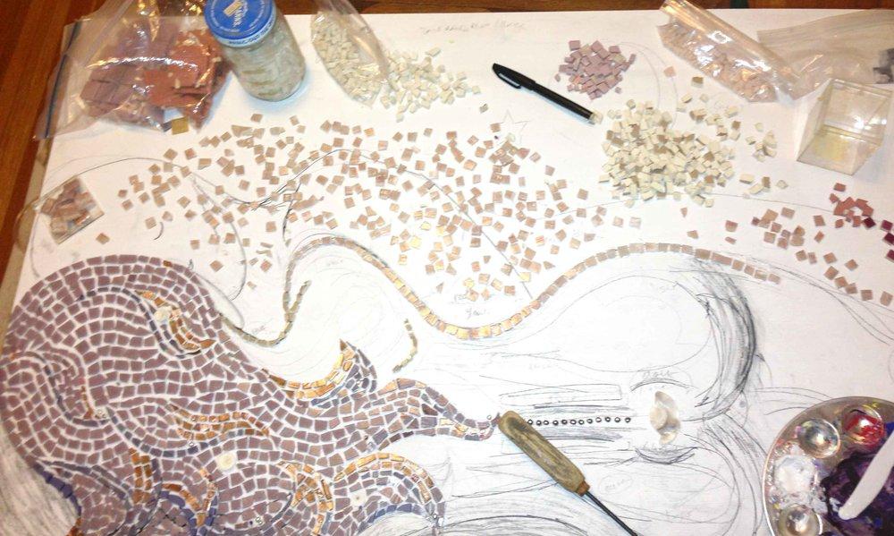 Calee Lucht Rebirth of Venus mosaic_Progress.jpg