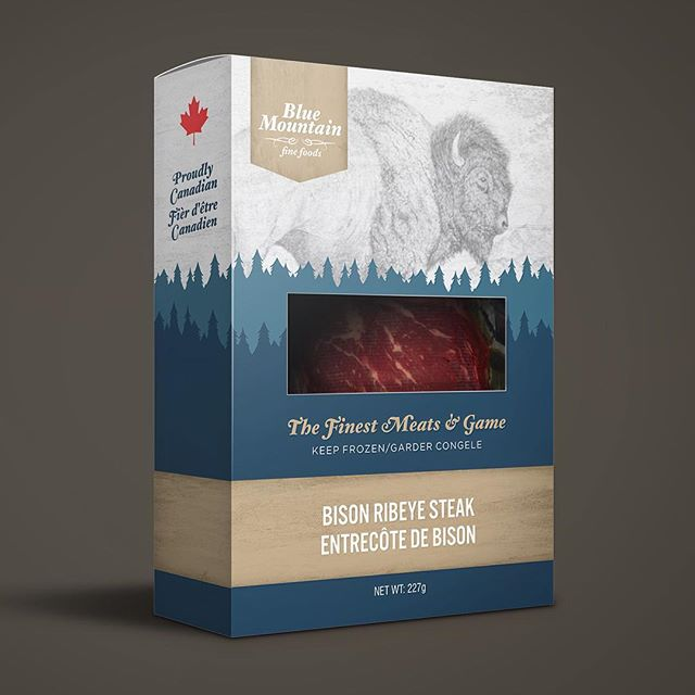 New packaging for Blue Mountain Fine Foods! #branding #design #packaging #makestuff