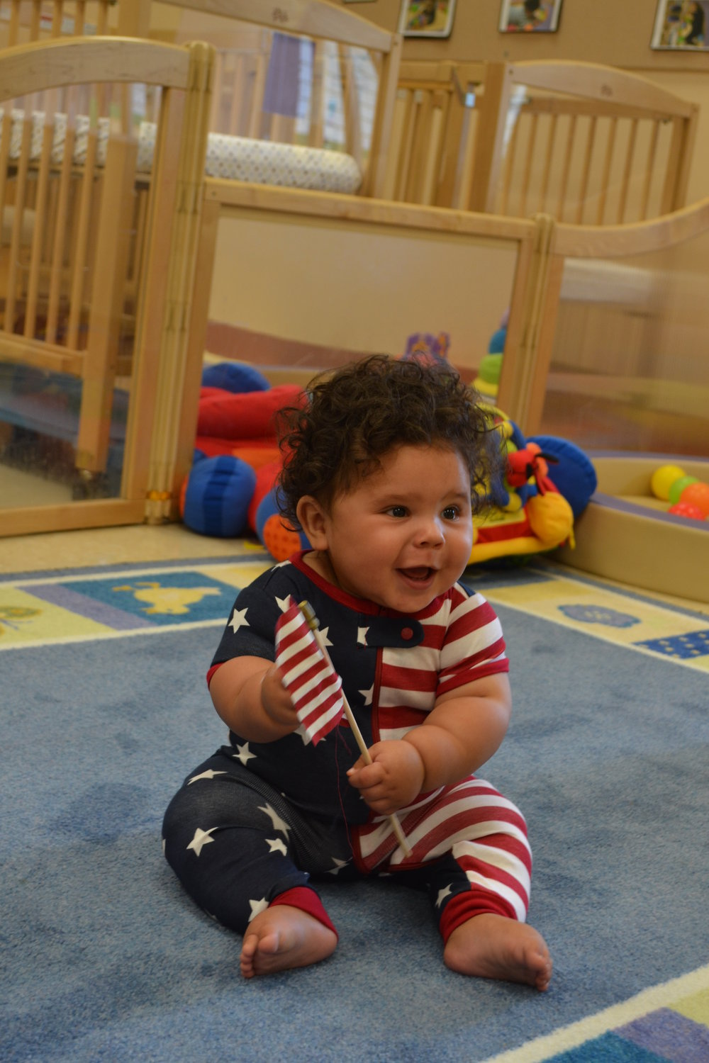 Even the infant class dressed up for the 4th of July!