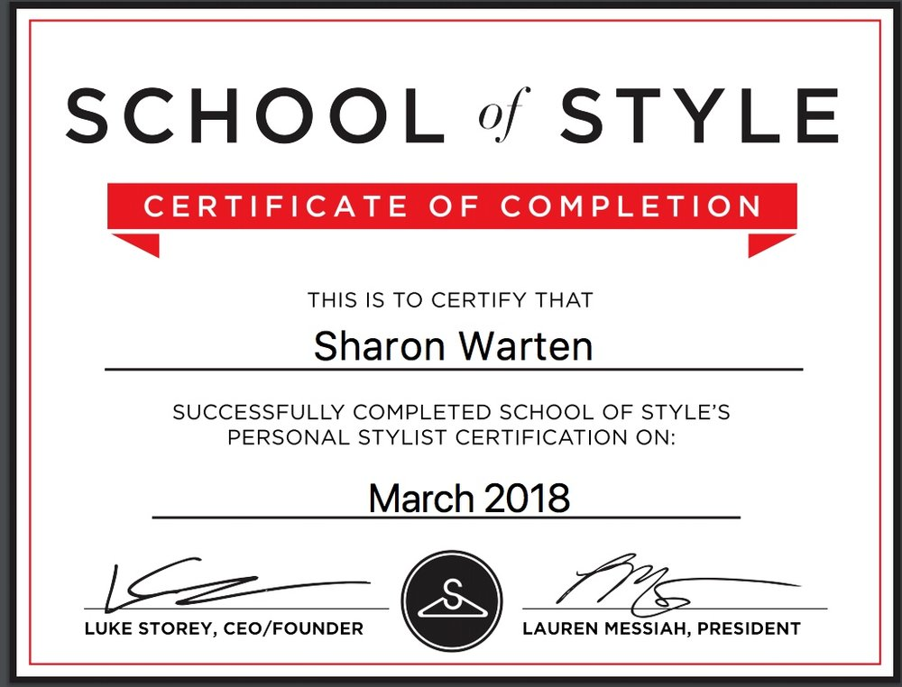 school of style diploma certificate