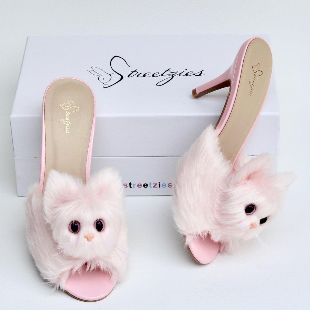 e051616eb61d High Heel Kitty Slippers - Pink — Streetzies