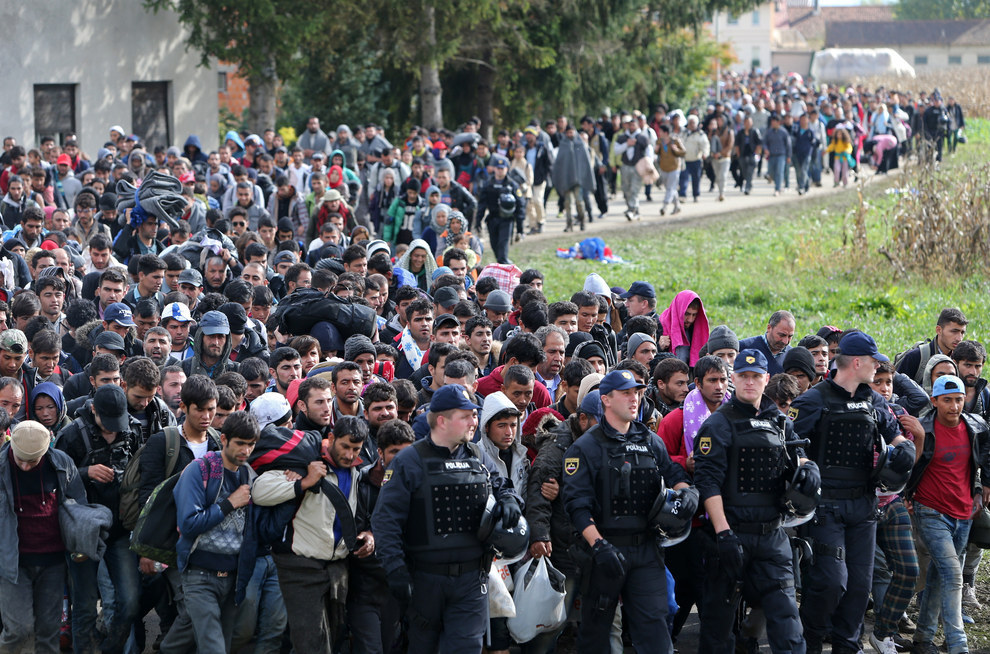 Muslim migrants walking through several countries in order to reach the German, British, and Swedish welfare states. European politicians promised that they would be mostly women and children fleeing war zones. They promised that they would be doctors and engineers that would add to the tax base. Out of several hundred thousand migrants entering Sweden, only 4 passed a test to determine that they were healthcare professionals. Count the women and children. Where are they? At what point is it ok to say that Europeans were completely lied to and that these lies have led to unthinkable suffering for countless people now afraid for their and their children's lives in their own towns? This extraordinary naivety will lead to the destruction of Europe and it will be looked back on as the greatest folly since World War II.
