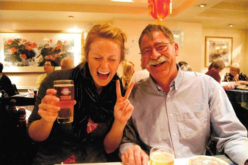 Dad and I enjoying dinner in London's Chinatown during our trip to England (2010)