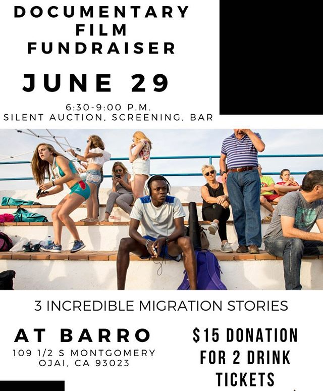 Come join me at Barro this Friday night for a Fundraising Party @barro_mercado in Ojai! Silent auction, bar, and a teaser screening. $15 for two drink tickets. See you there!!