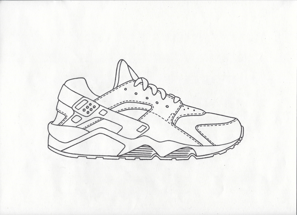 Hurraches Coloring Page