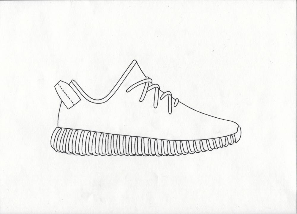 Adidas Nmd Shoe Drawing