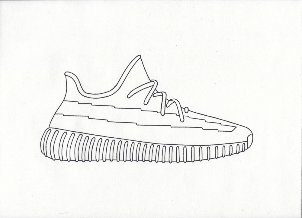 Yeezy Boost 350 V2 Drawing at GetDrawings   Free download  Yeezy Drawing
