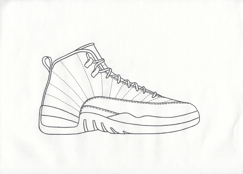 air jordan 12 drawing