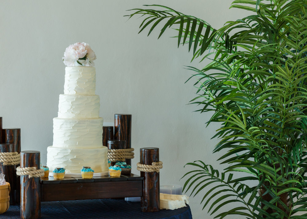 Nautical Pier Wedding Cake Stand