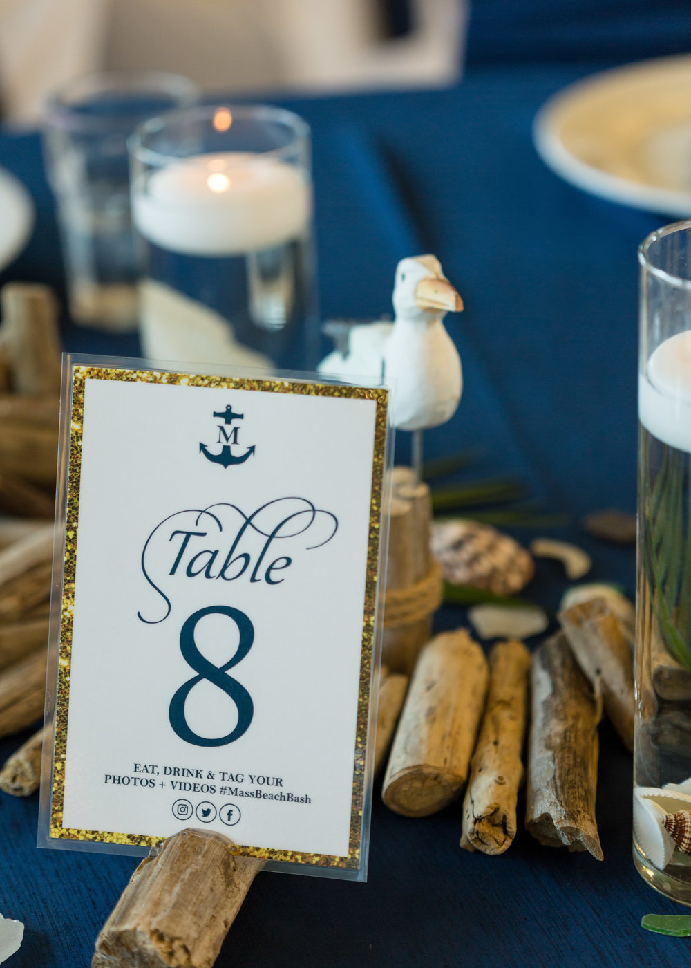 Nautical Wedding Reception Table Numbers