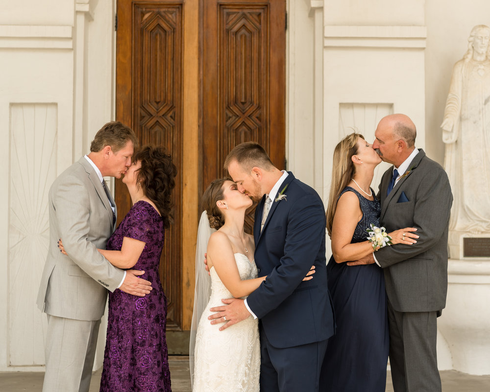 Parents Formal Kissing Photo