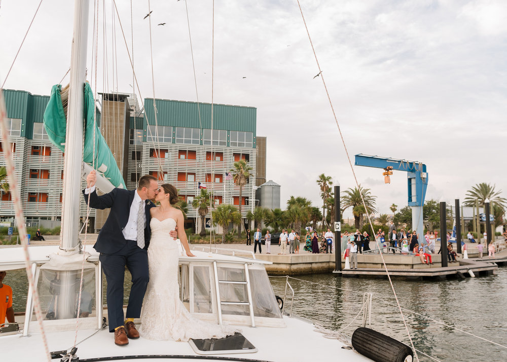 Our Wedding Sail-away Exit