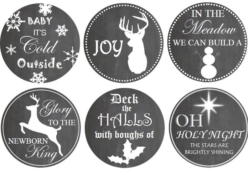 Holiday 32oz Mason Jar Wide Lid Label Printable