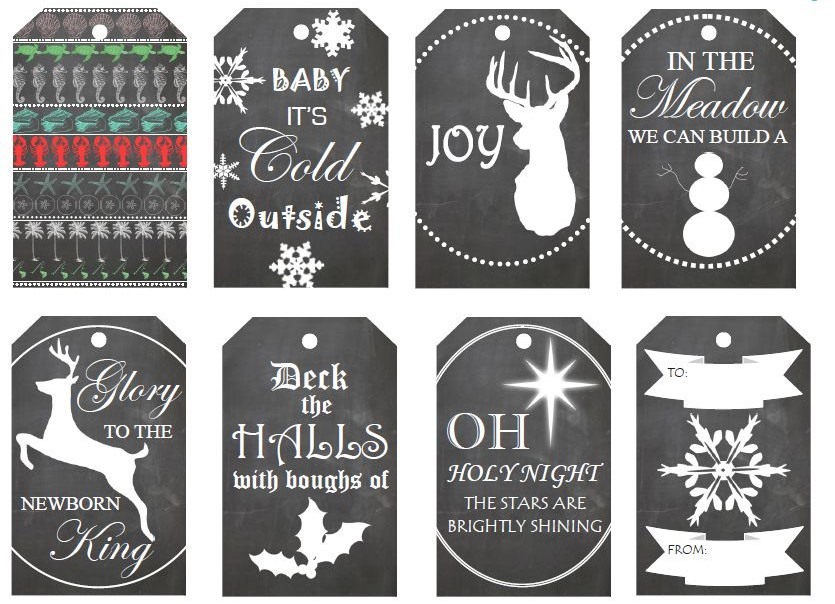 Holidays Cheery Gift Tag Printables