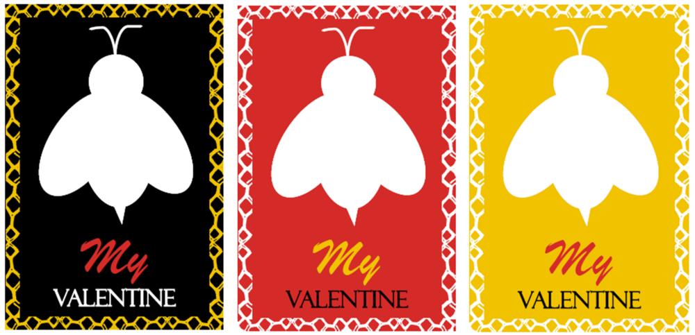 Bee My Valentine Chapstick Valentine Cards