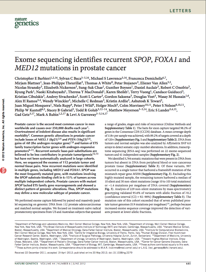 Exome sequencing identifies recurrent SPOP, FOXA1 and MED12 mutations in prostate cancer.png
