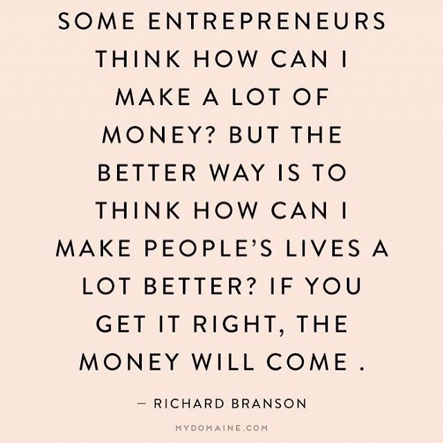 The entrepreneurs that start and end their day while think about money won't ever succeed. Making others better and making yourself a better person is when you really succeed! When you enjoy what you are doing, money is just a bonus #yourself #be #and #quotesandsayings #quotestoliveby #marketing #socialmedia #social #media #socialmediamarketing #socialresponsibility #respect #quotes #quotables #bereal #berealistic💙 #havefaith #behappy #moneyisnoteverything