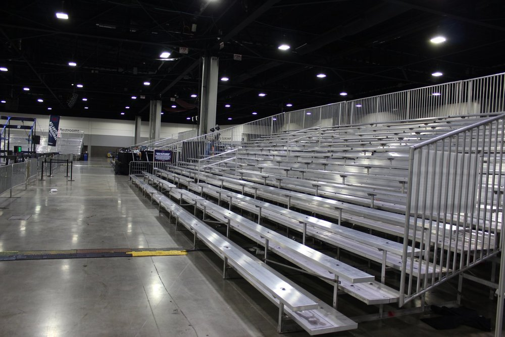 Non-Elevated Aluminum Bleacher Rentals