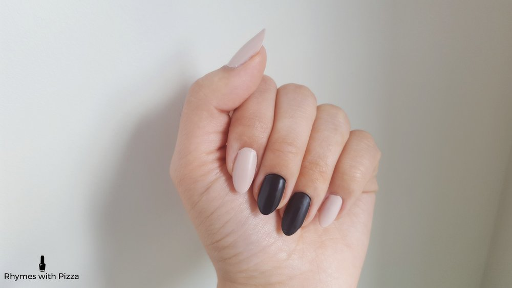 Step 3: Time to make those nails matte! Put on a thin coat of your clear matte polish. These become matte fairly quickly, but don't let that fool you! This doesn't mean they are dry right away. Give it some time to dry properly before moving on to the next step.