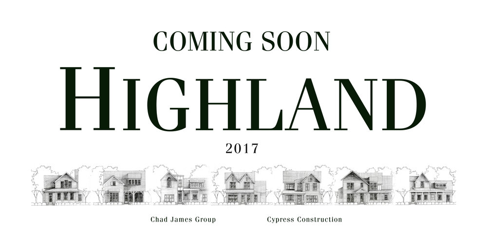 At the end of 2016, Daniel was hired to create a brand identity for Highland, a planned neighborhood in Muscle Shoals, Alabama.