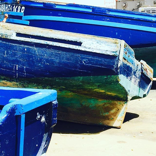 The famous blue fishing boats of Essaouria💙#tribecharms #startwithyourheart #adventuretogether