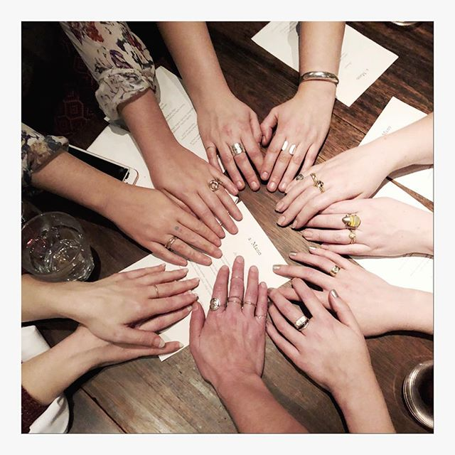 Grateful for my Bay Area jewelry community.❤️ These hearts and hands are beautiful! Love our yearly goal-setting dinner tradition.
