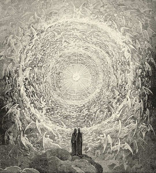 Gustave Dore's version of the beatific vision as inspired by Dante's  Divine Comedy .