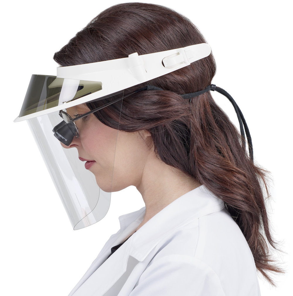 Op-d-op II Face Shield with Loupes