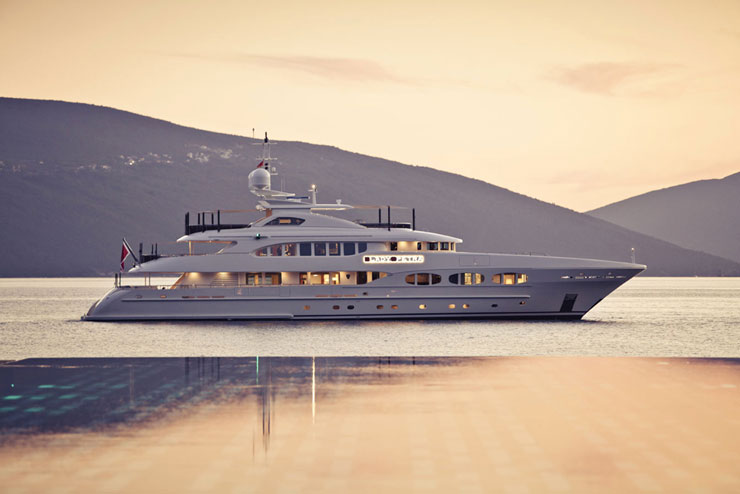 Yachts like this 153 Heesen Lady Petra, built in Holland, are nothing short of works of art.