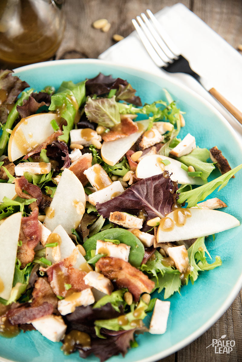 Pear, Bacon, & Chicken Fall Salad