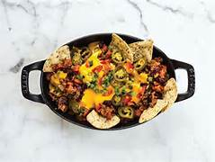 Lentil Chili Cheese Nachos - Vegan