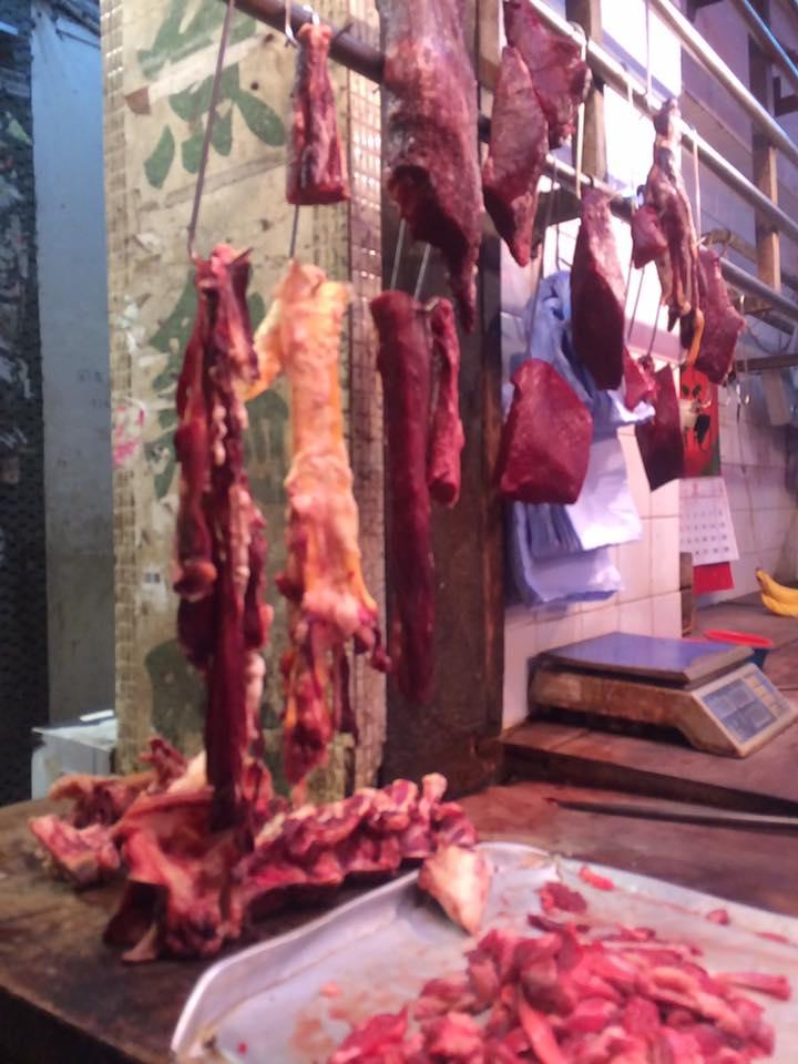 Street Vendor selling meat