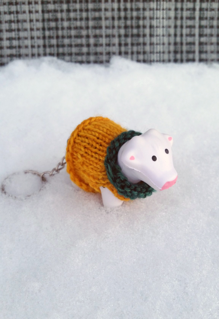 Jen's #heiferBelle is cozy all winter now in her new sweater.