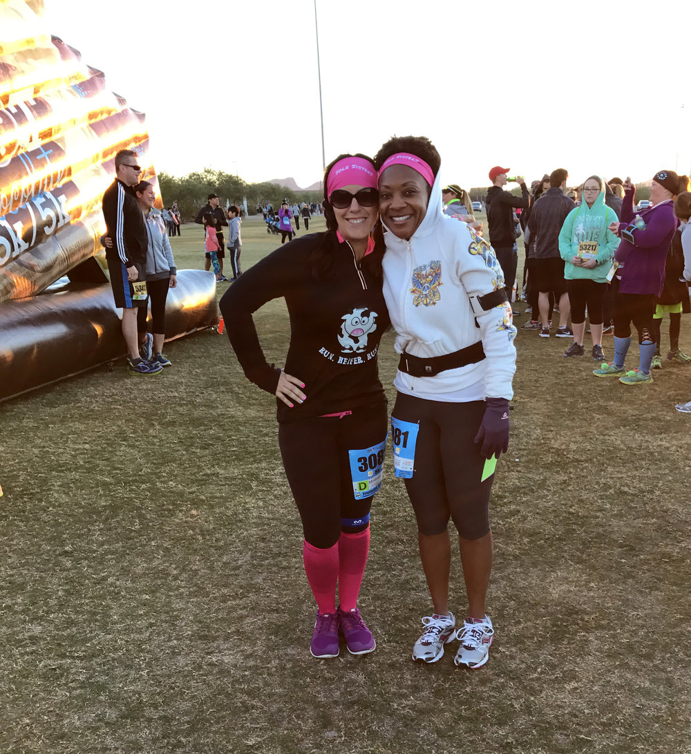 Me and my friend Tiffany before last year's race!