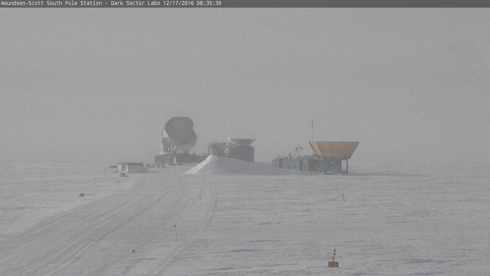 live web cam image of Amundsen Scott Station at 90.00S, 0.00E.