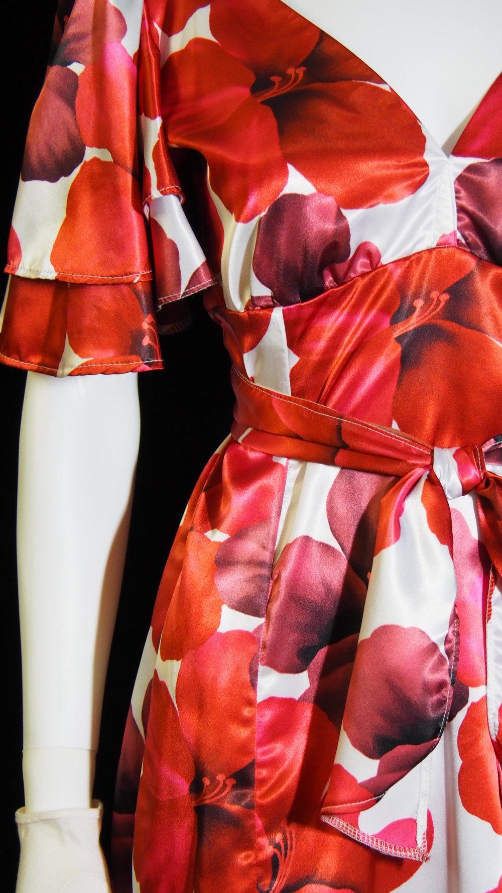 - Satin Floral Dress