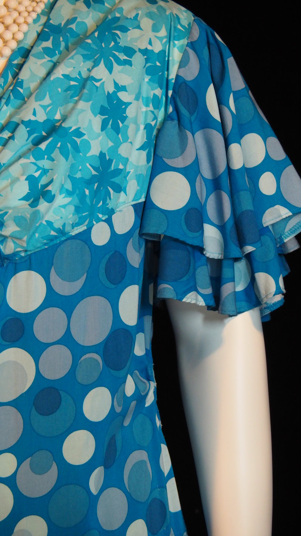 - Teal Polka Dot Dress