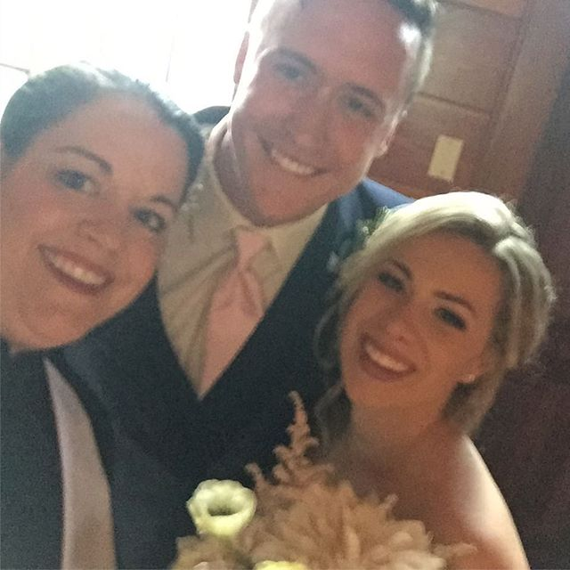 Newlywed selfie!!! Blessings to Cameron and Abbie for your #happilyeverafter #centralfloridaweddingreverend #weddingofficiant #iloveweddings 💕💗