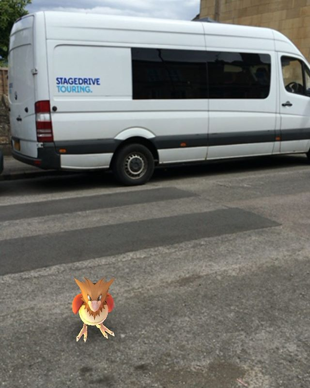 Cheeky little Pokemon by the van!