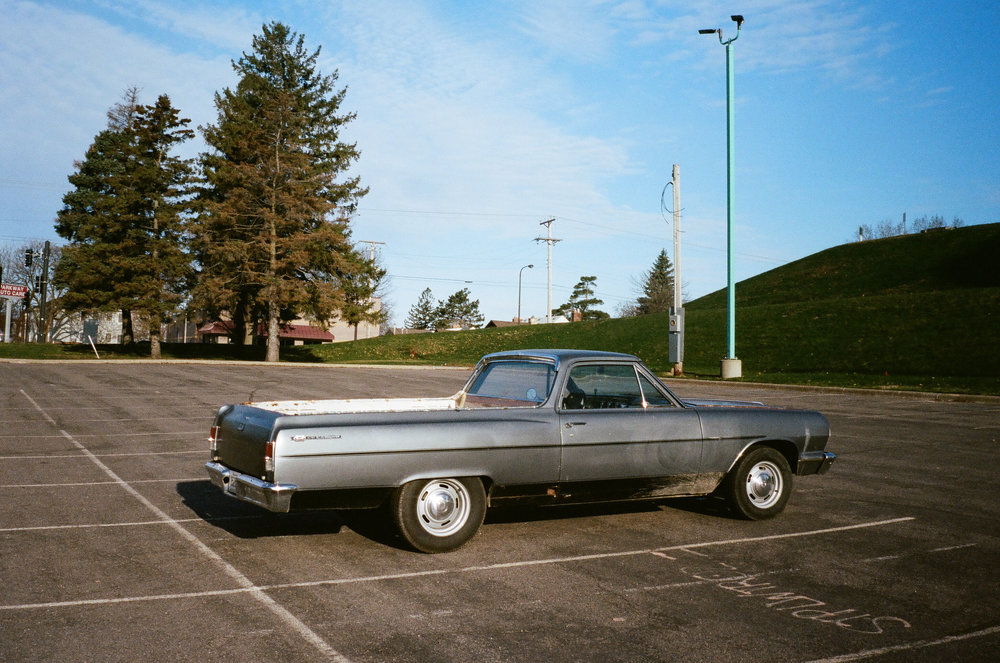 El Camino - shot with Olympus XA2 on Fuji Superia 400 film.