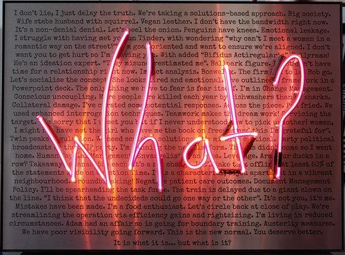One left neon light do you hear yourself when you speak what one left neon light do you hear yourself when you speak what brushed aluminium background version solutioingenieria Choice Image