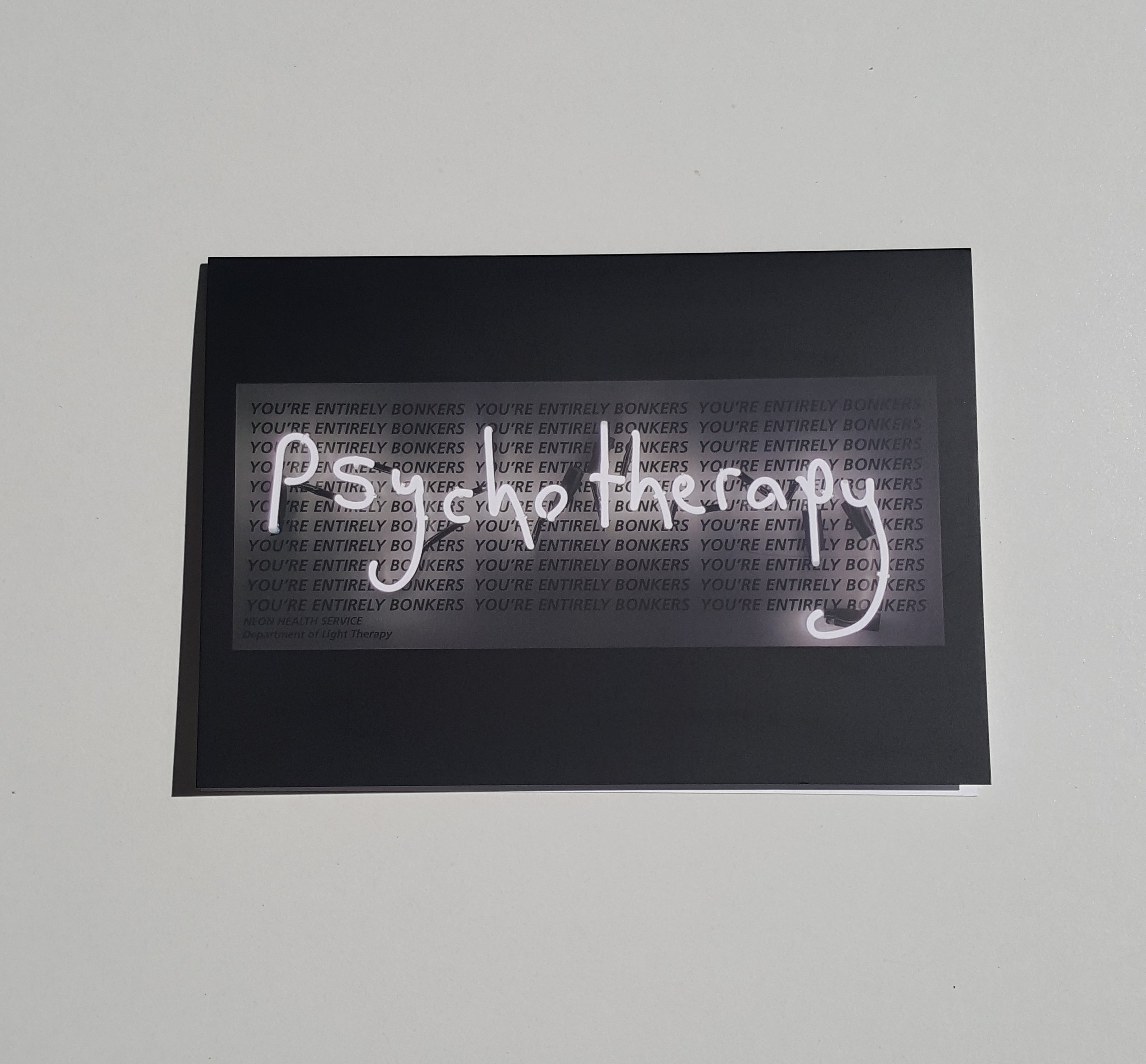Greeting card the neon health service psychotherapy greeting card the neon health service psychotherapy m4hsunfo