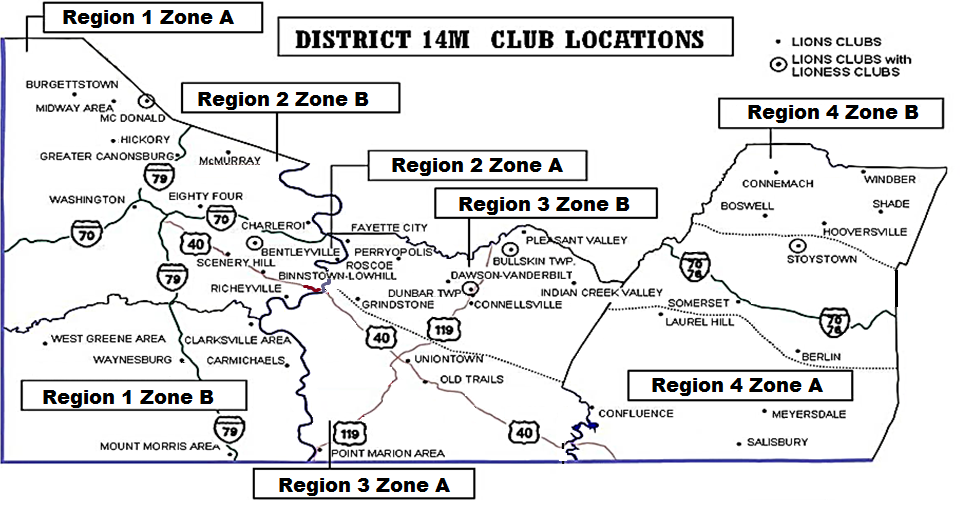 District 14M is located in South Western Pennsylvania and comprises of Washington, Greene, Fayette and Somerset Counties.